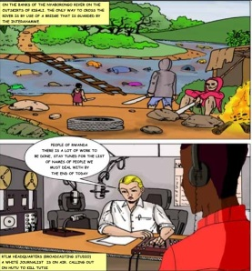 """Dal comics ONU """"A hundred days in the Land of Thousand Hills"""""""